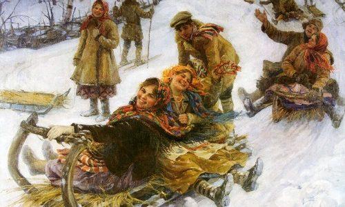Традиционные зимние забавы в Беларуси .